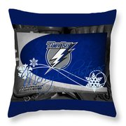 Tampa Bay Lightning Christmas Throw Pillow