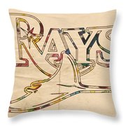 Tampa Bay Rays Logo Art Throw Pillow