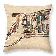 Tampa Bay Rays Poster Art Throw Pillow