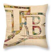 Tampa Bay Rays Poster Vintage Throw Pillow