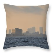 Tampa From The West Shore Throw Pillow