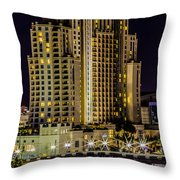 Tampa Marriott Waterside Hotel And Marina Throw Pillow