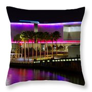 Tampa Museum Of Art In Hdr Throw Pillow