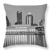 Tampa Panorama Throw Pillow