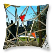 Tampa Seen Through Art Throw Pillow