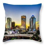Tampa Skyline Throw Pillow