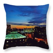 Tampa Sunset Throw Pillow