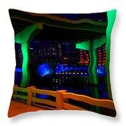 Tampa Surrealism Work 7 Throw Pillow