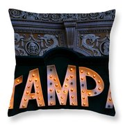 Tampa Theatre Sign 1926 Throw Pillow