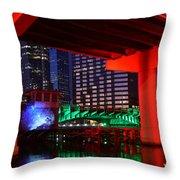 Colorful Tampa Bay Florida Throw Pillow