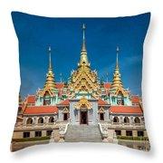 Tang Sai Temple Throw Pillow