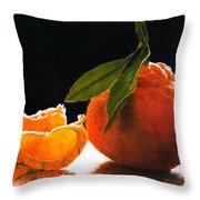 Tangelo Slices Throw Pillow