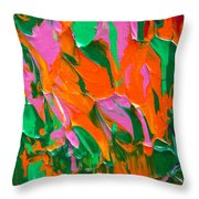 Tangerine And Lime Throw Pillow by Donna Blackhall