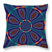 Tangerine And Turquoise Dream Throw Pillow by Alec Drake