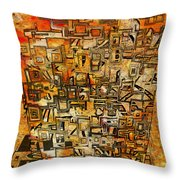Tangerine Dream Throw Pillow by Jack Zulli