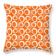 Tangerine Loop Throw Pillow