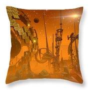 Tangerine Throw Pillow