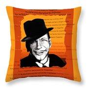 Tangerine Swing Throw Pillow