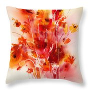 Tangerine Tango Throw Pillow by Hailey E Herrera