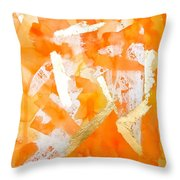 Tangerine Tango Throw Pillow