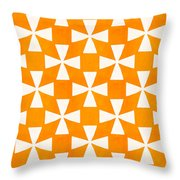 Tangerine Twirl Throw Pillow