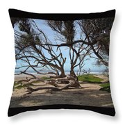 Tangle Of California Trees Throw Pillow