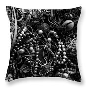 Tangled Baubles - Bw Throw Pillow