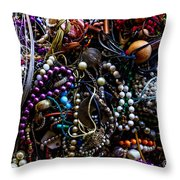 Tangled Baubles Throw Pillow