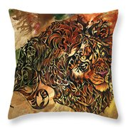 Tangled Lion Throw Pillow
