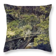 Tangled Neighbors Of The Lone Cypress Throw Pillow