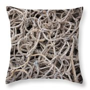 Tangled Ropes Throw Pillow