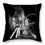 Tangled Up In Tubes Throw Pillow