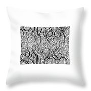 Tangled Up In Vines Throw Pillow