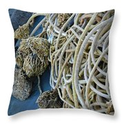 Tangles Of Seaweed Throw Pillow