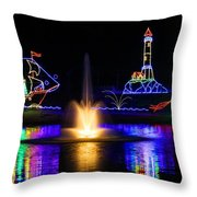 Tanglewood Festival Of Lights Throw Pillow