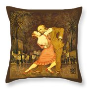 Tango En La Plaza De Mayo Throw Pillow