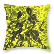 Tango In Yellow Throw Pillow