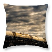 Tank Cars Throw Pillow by Bob Orsillo