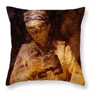 Tank Commander Throw Pillow