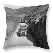 Tank-led Patrol Of Leathernecks Hunt Throw Pillow