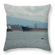 Tankers Throw Pillow