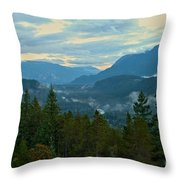 Tantalus Mountain Afternoon Landscape Throw Pillow
