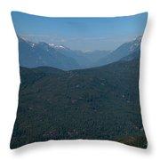 Tantalus Mountain Snow Caps Throw Pillow