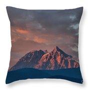 Tantalus Mountain Sunset - British Columbia Throw Pillow
