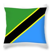 Tanzania Flag Throw Pillow