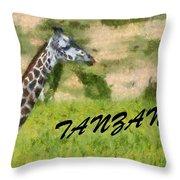 Tanzania Poster Throw Pillow