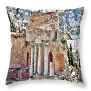 Taormina Amphitheater Throw Pillow