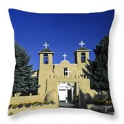 Taos Adobe Church Throw Pillow