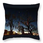 Taos At Night Throw Pillow