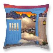 Taos B And B Throw Pillow